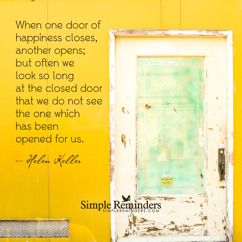 Closed door quotes helen keller quotesgram for Door quotation
