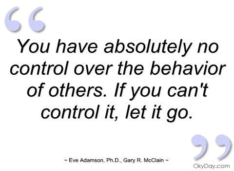 how to change my controlling behavior