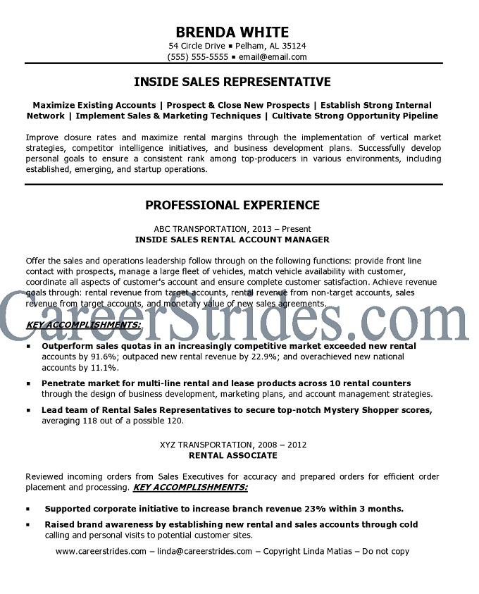 inside sales resume insurance sales representative resume inside sales representative insurance sales representative resume inside sales - Salesman Resume Examples