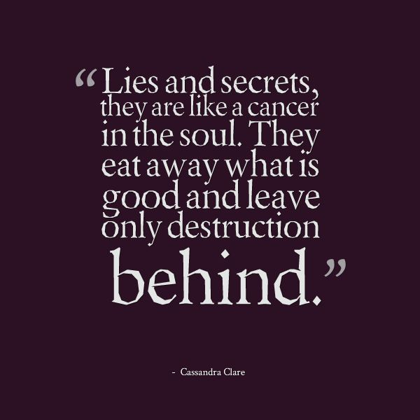 Secrets and about poems lies Cheating And