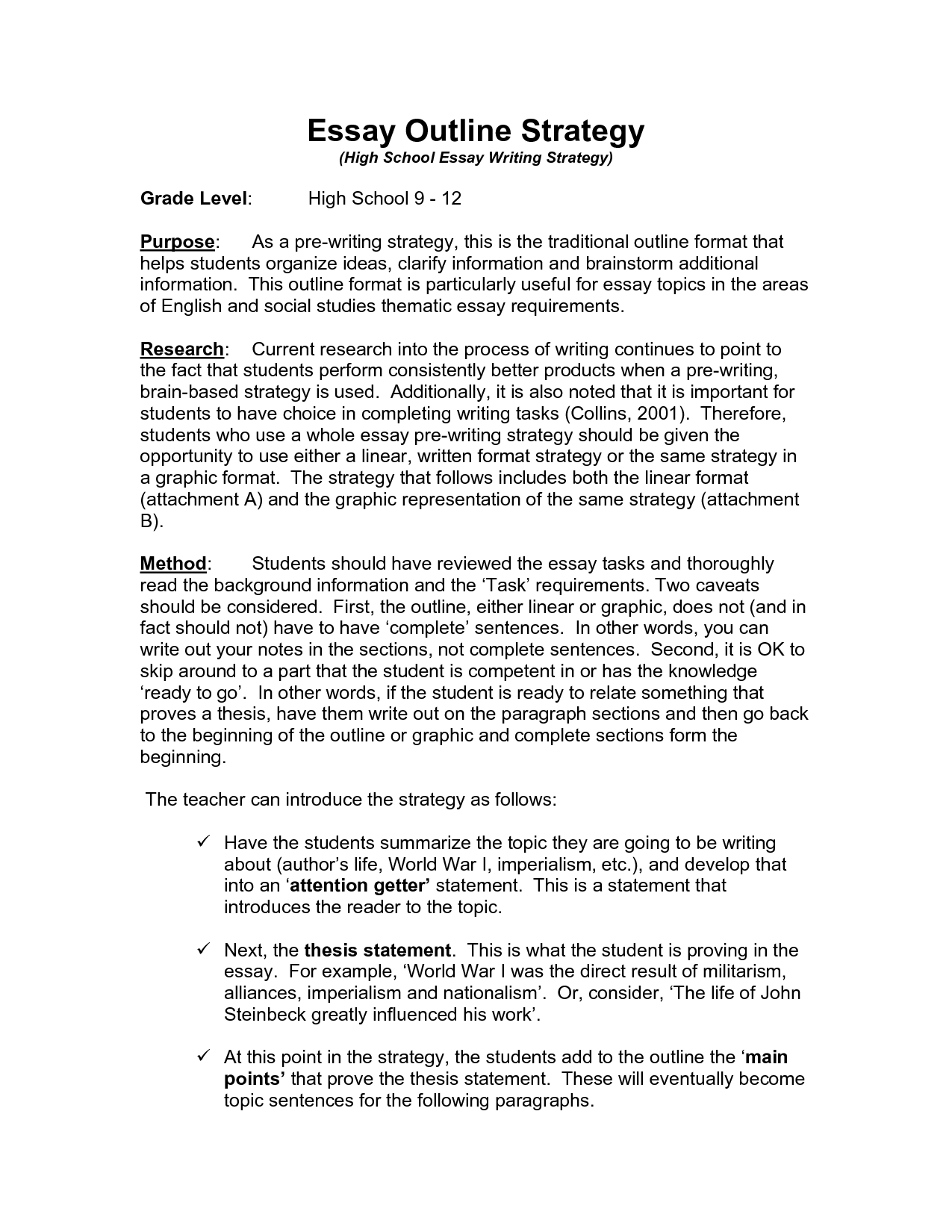 thesis outline template thematic essay format resume cv cover letter - Example Of Outline Essay Writing