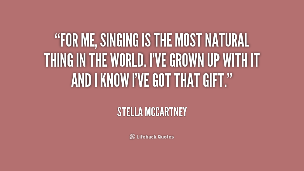 Inspirational Singing Quotes Quotesgram