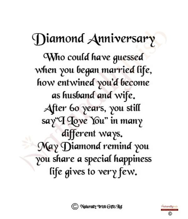 Anniversary Quotes Quotesgram: Diamond Anniversary Quotes. QuotesGram