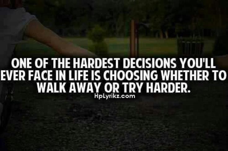 Famous Quotes About Tough Decisions. QuotesGram