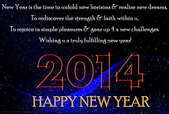 New Year Greeting Messages 2014 2014 New Year Christia...