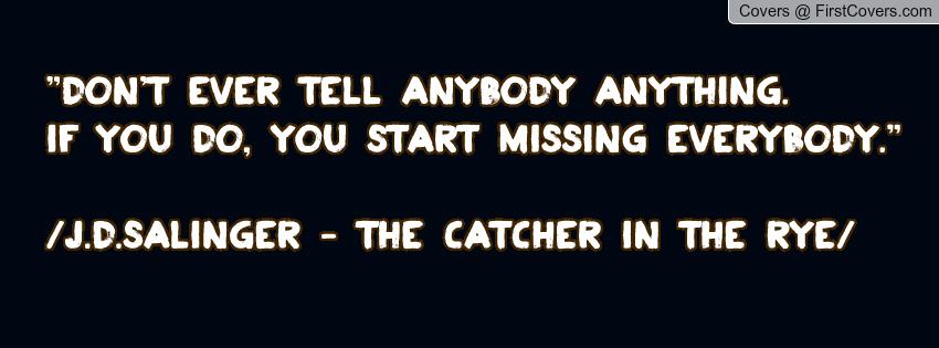 Catcher In The Rye Quotes With Page Numbers Quotesgram