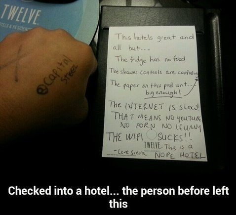 Funny Hotel Quotes. QuotesGram Funny Hotel Reviews