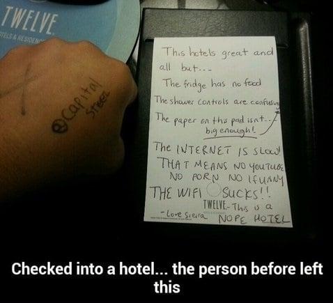 Funny Hotel Quotes Quotesgram