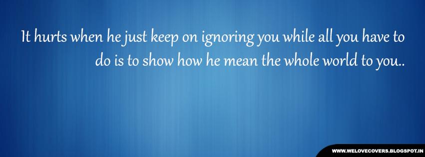 Keep Ignoring Me Quotes. QuotesGram
