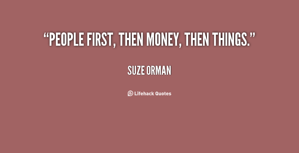 Suze Orman Peoplefirst Quotes Quotesgram