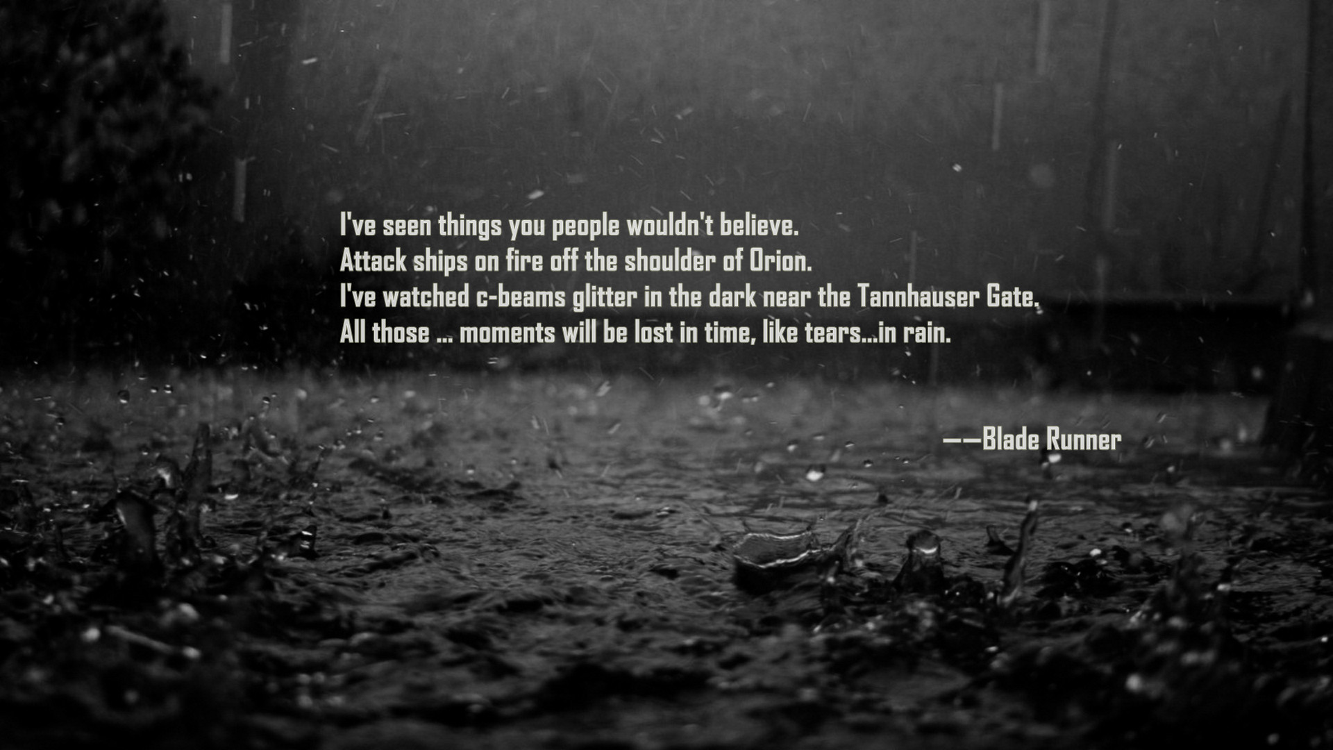 Blade Runner Movie Quotes. QuotesGram - photo#43