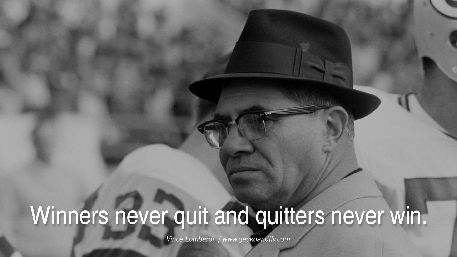 management lessons from vince lombardi Vince lombardi quotes american - coach june 11 , 1913 - september 3 , 1970 read full biography the price of success is hard work, dedication to the job at hand, and the determination that whether we win or lose, we have applied the best of ourselves to the task at hand.