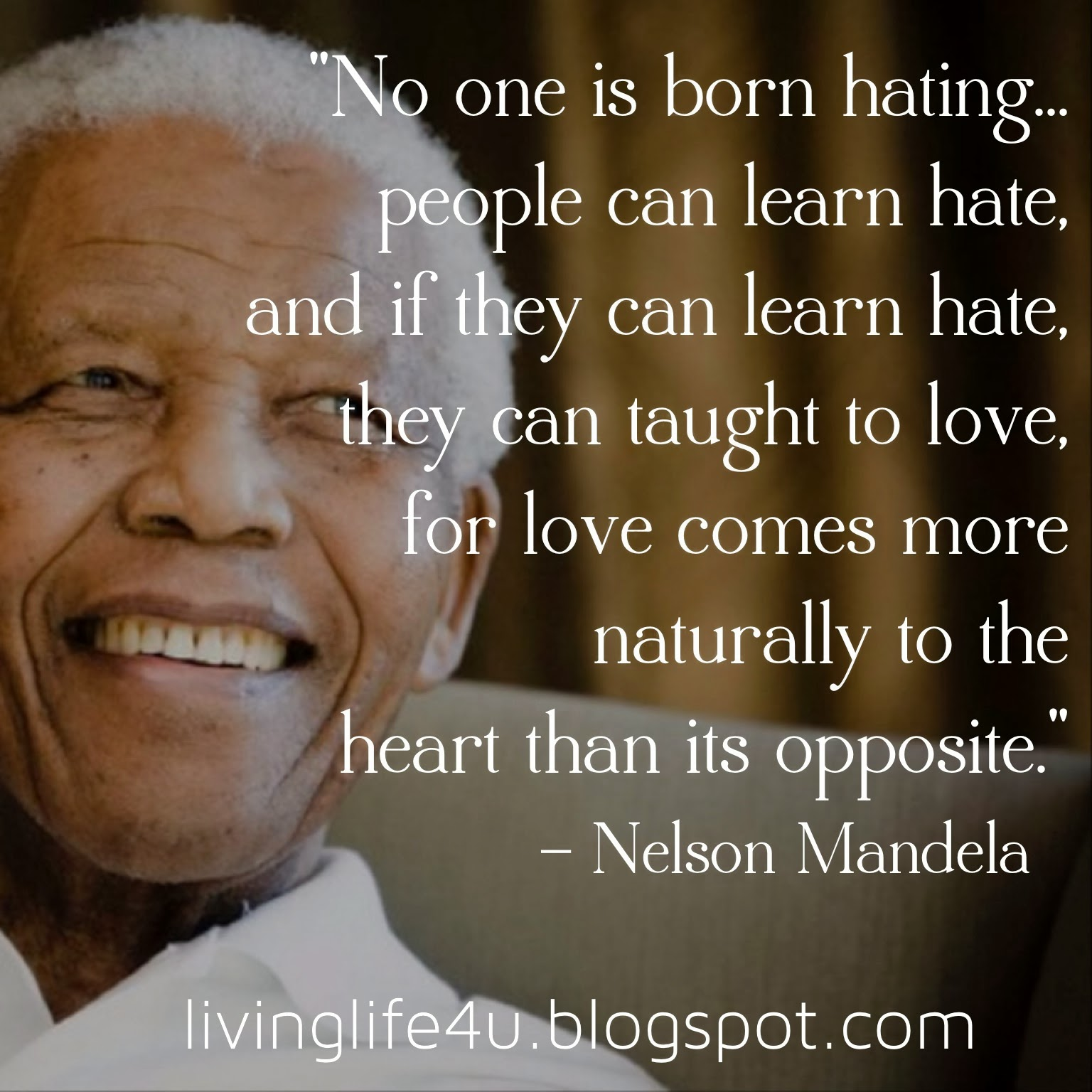 Famous Quotes Of Nelson Mandela: Nelson Mandela Quotes About Hate. QuotesGram
