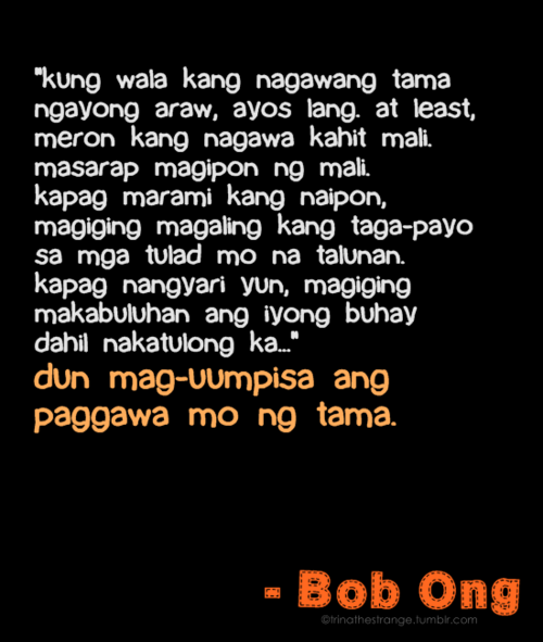 bob ong si ending a relationship