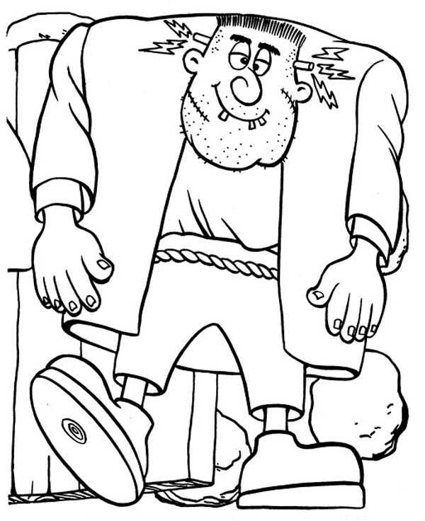 frankenstein coloring page - frankenstein quotes and pages quotesgram
