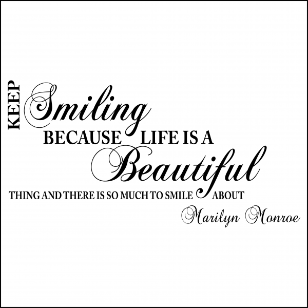 Keep Smiling Quotes: Marilyn Monroe Quotes Smile Life Is Beautiful. QuotesGram