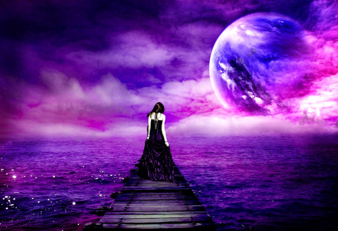 Sad moon quotes quotesgram - Purple moon wallpaper ...
