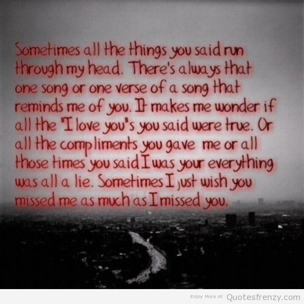 Quotes About Missing Him: Missing Him Quotes. QuotesGram