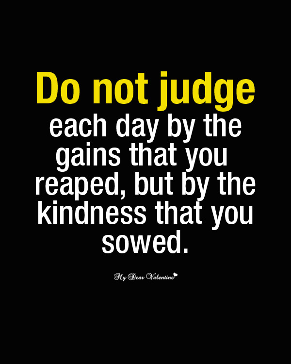Saying Quotes About Sadness: Inspirational Quotes About Judging Others. QuotesGram