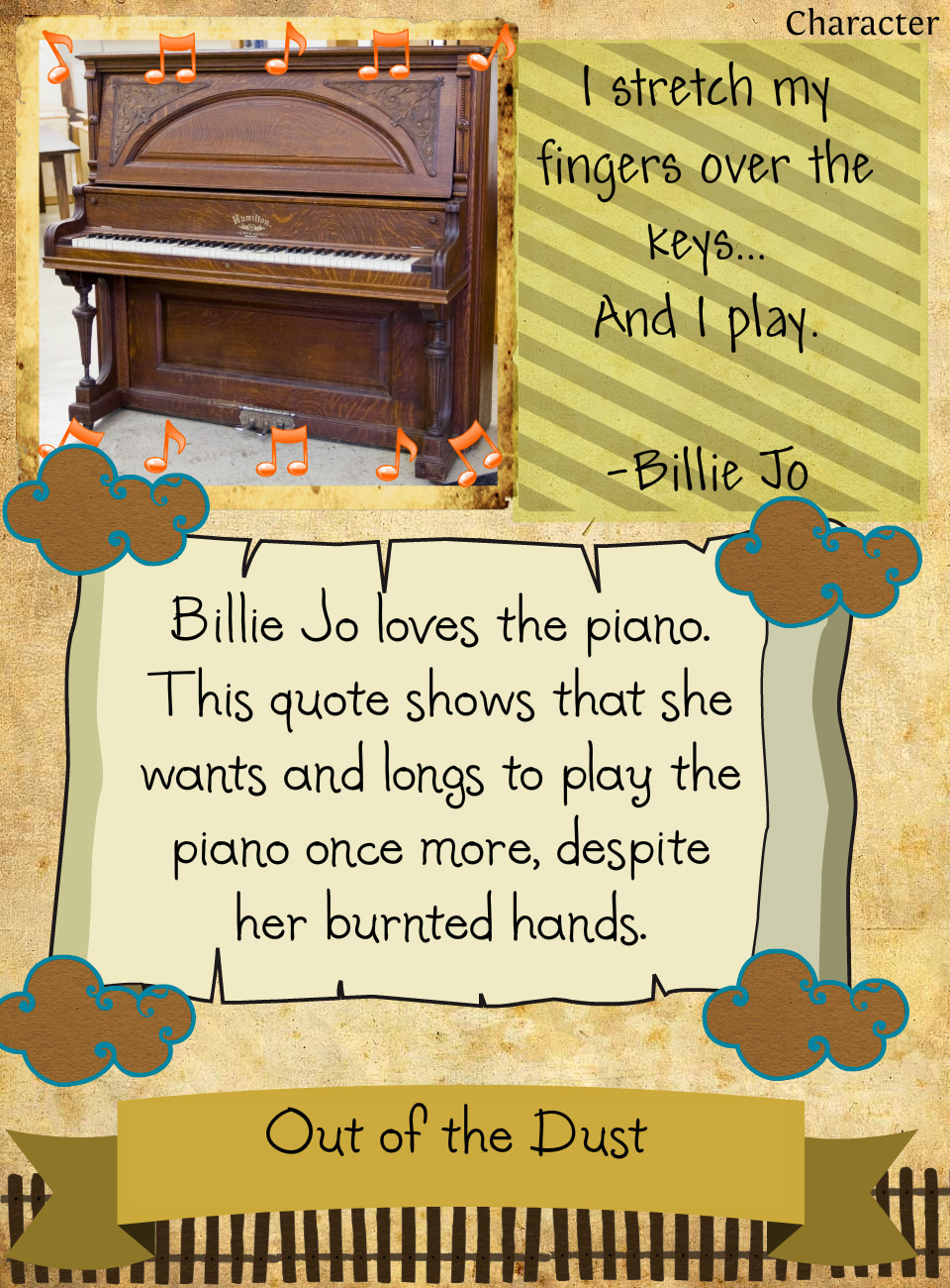 out of the dust The ease of reading, however, does not mean that the book is simplistic  then  tragedy strikes, and billie jo must work her way out of the dust – the dust  karen  hesse has written a novel that is, at times, quite melancholy.