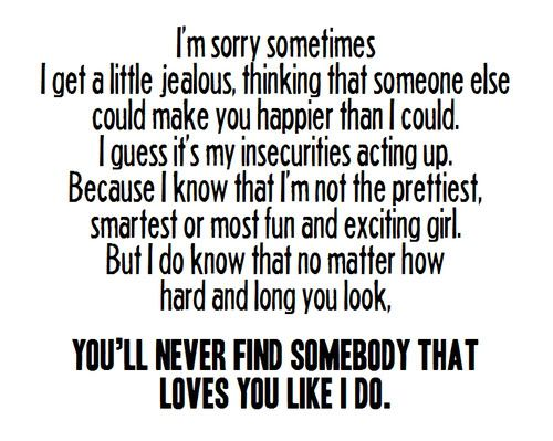 Cute Jealousy Quotes Tumblr: Sorry To Your Boyfriend Quotes. QuotesGram