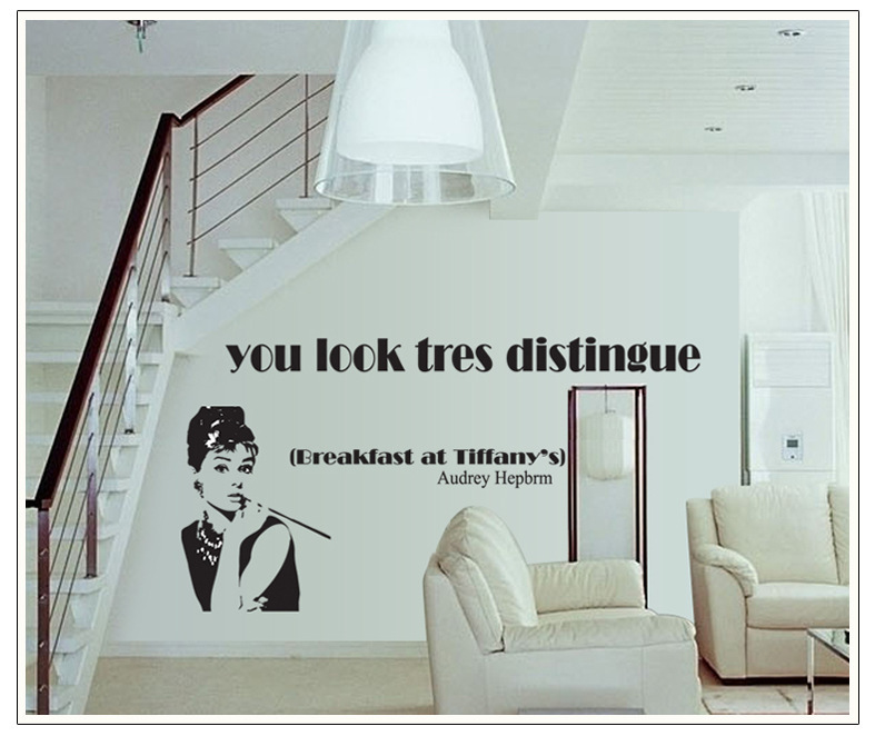 Office wall quotes quotesgram for Audrey hepburn bedroom designs