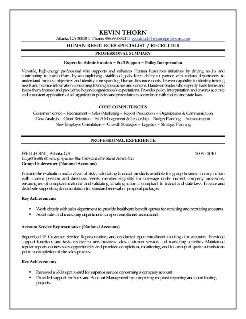 housekeeping hospital resume