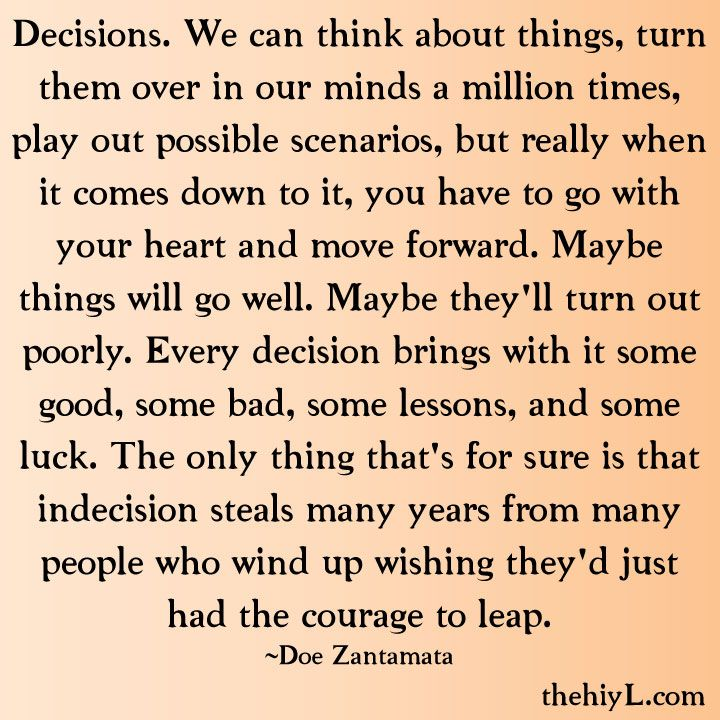 Quotes About Big Life Decisions. QuotesGram