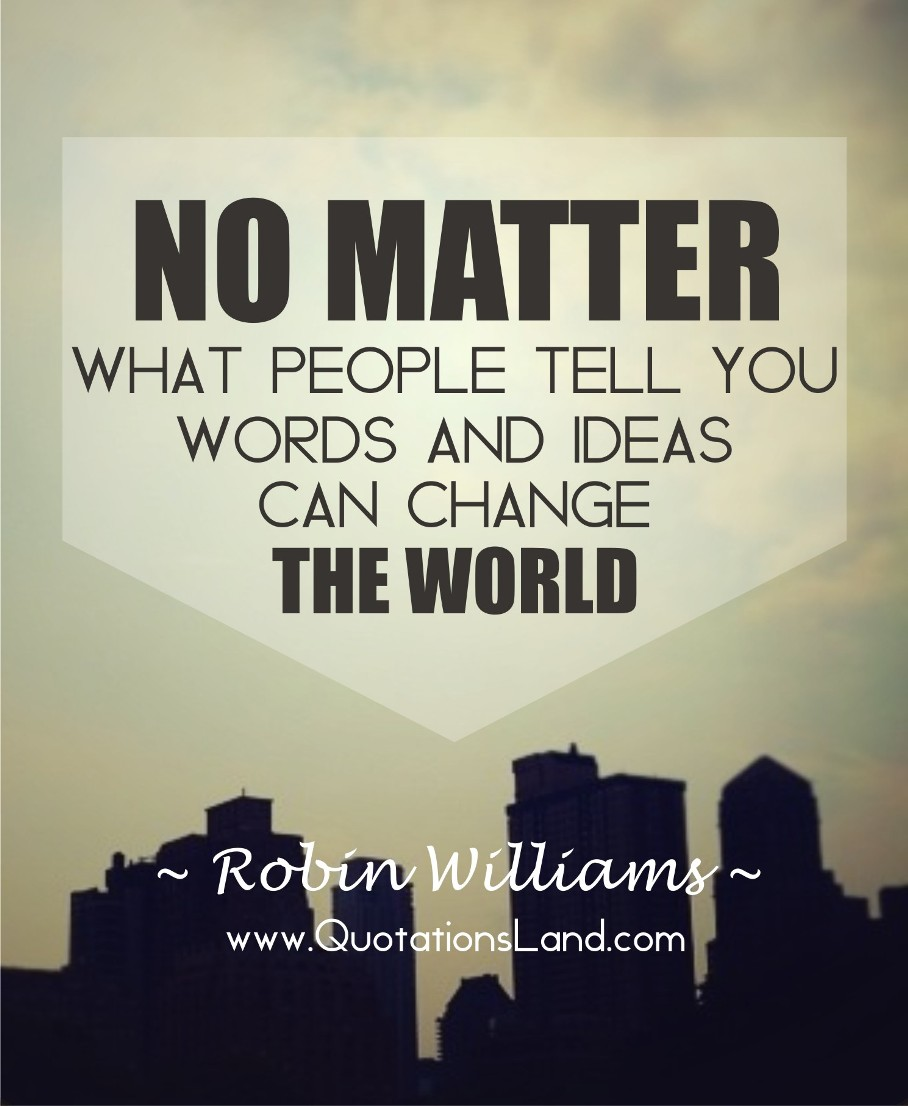 Motivational Inspirational Quotes: Robin Williams Inspirational Quotes. QuotesGram