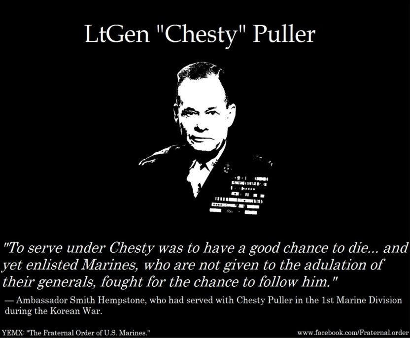 lt chesty puller leadership -- the marines of 2nd battalion, 8th marine regiment, 2nd marine division, were awarded the lt gen chesty b puller outstanding leadership award by lt gen keith j stalder, commanding general, ii marine expeditionary force, in a ceremony here, may 15.