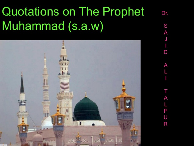 essay on prophet muhammad s.a.w The prophet by catherine rice once upon a time there lived a little boy who lived in mecca, arabia his name was muhammad muhammad's daddy passed away.