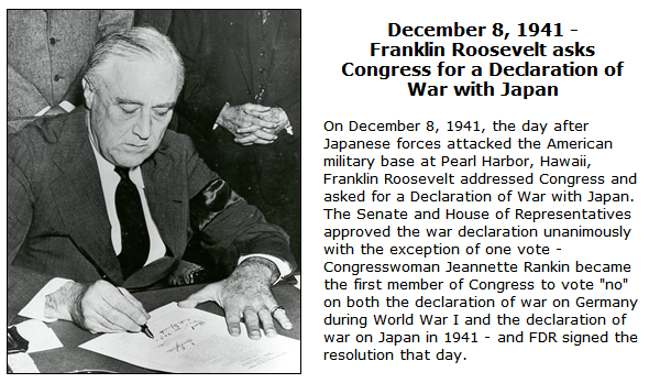 a literary analysis of the pearl harbor speech and the declaration of sentiments What's the purpose of fdr's pearl harbor speech speech on the day after the attack on pearl harbor congress for a formal declaration of war.