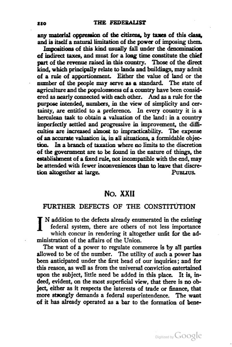 essays on the federalist papers The federalist papers the 85  the number of essays in the federalist was  extended in response to the relentless, and effective, antifederalist criticism of the .