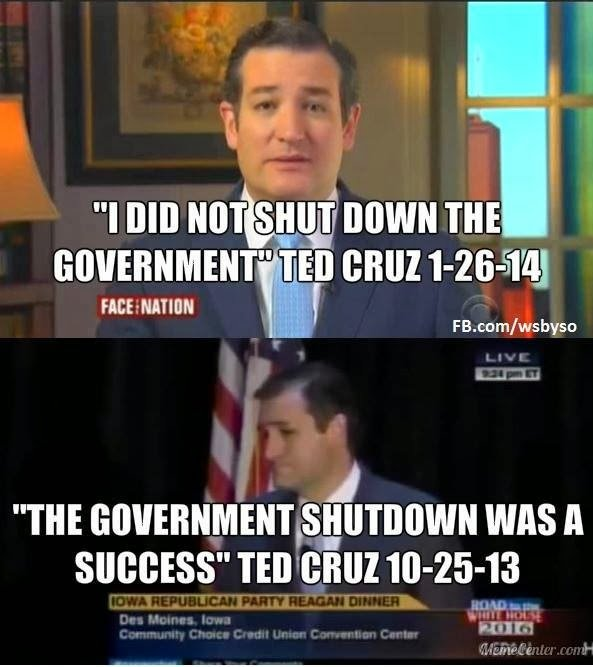 Government Shutdown S Saddest Photo Goes Viral: Ted Cruz Crazy Quotes. QuotesGram