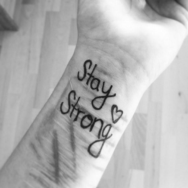 Depression Quotes Tattoos Quotesgram: Cutting Quotes Stay Strong Tattoos. QuotesGram