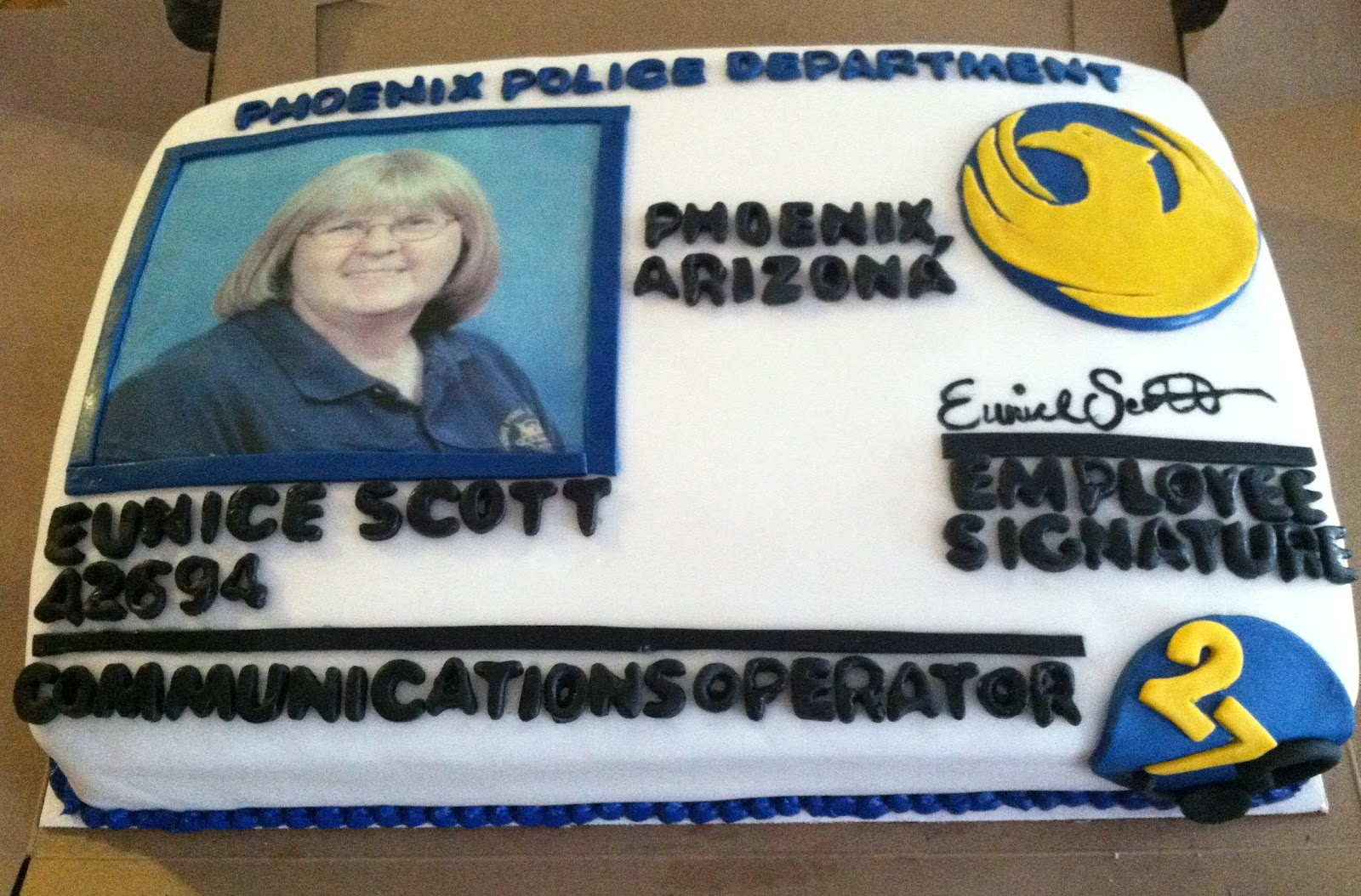 Law Enforcement Birthday Cake