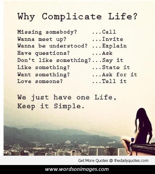 Complicated Quotes About Love: Life Is Complicated Quotes. QuotesGram