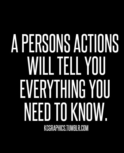 words more powerful than actions