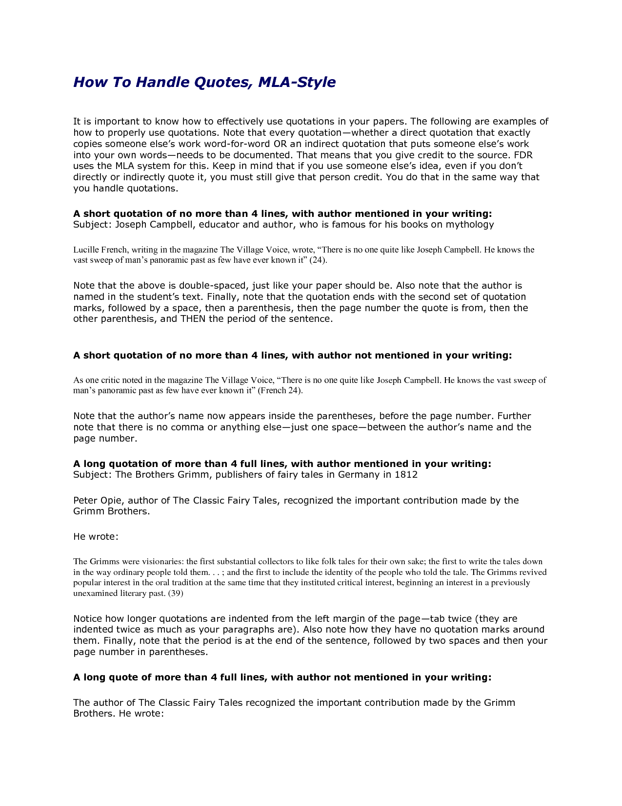 book in essay mla Mla style: handling quotations in your text general format an mla essay should be typed, double-spaced on standard-sized paper (85 x 11 inches) with margins of.