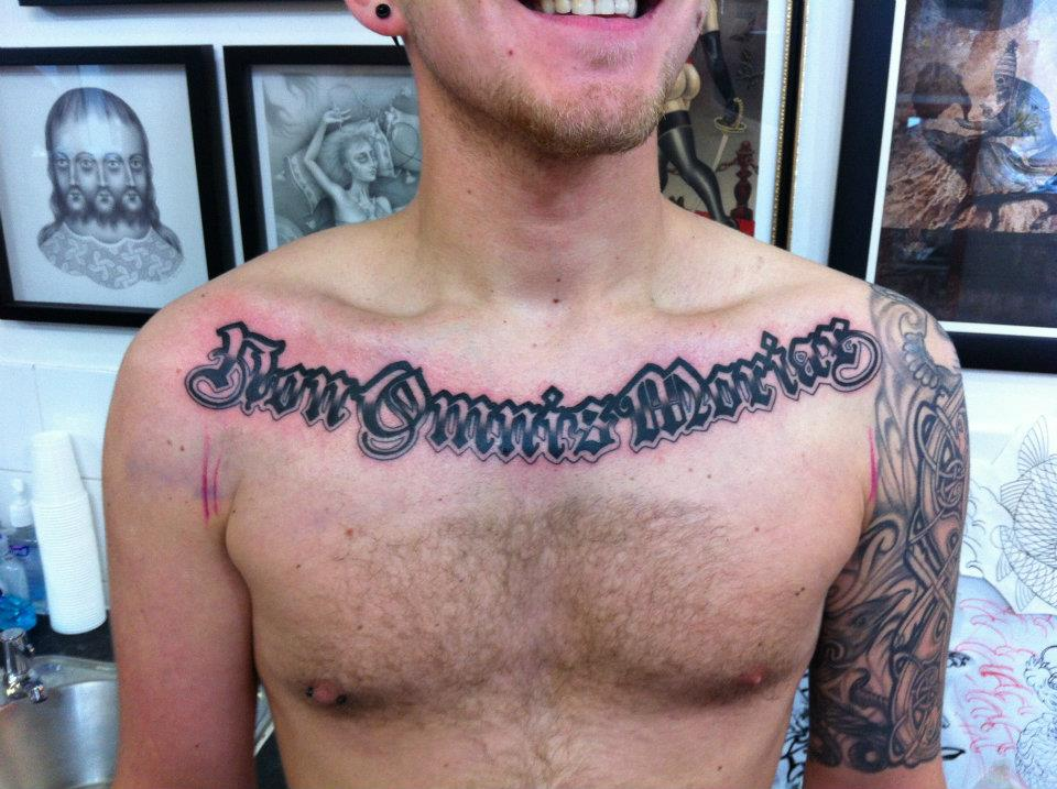 Chest Script Tattoo Quotes. QuotesGram