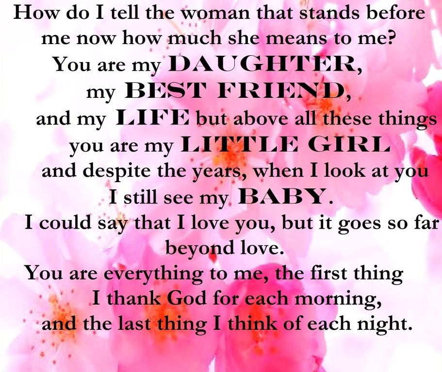 I Live For My Daughter Quotes: Wonderful Daughter Quotes. QuotesGram
