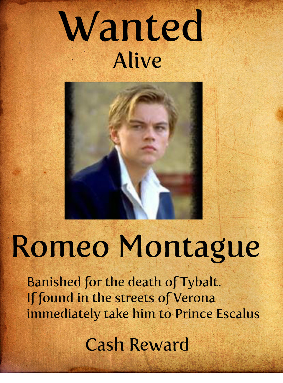 Romeo montague quotes quotesgram for The montague