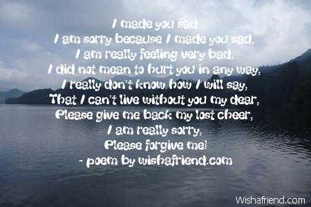 Forgive poems short me Please Forgive