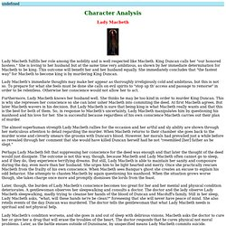 How Does Lady Macbeth Change Throughout The Play Essay