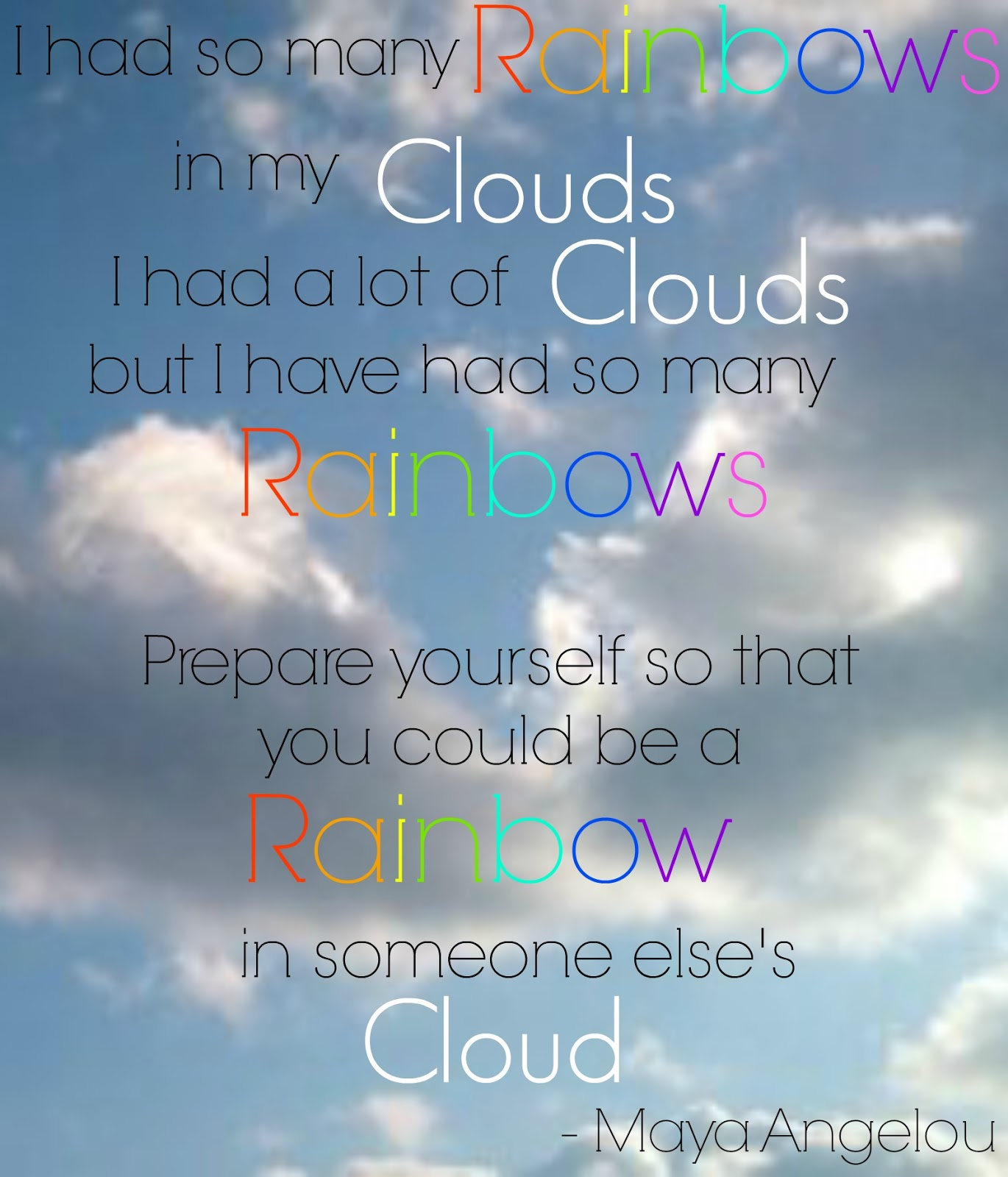 Inspirational Quotes About Positive: Cloud Maya Angelou Quotes. QuotesGram