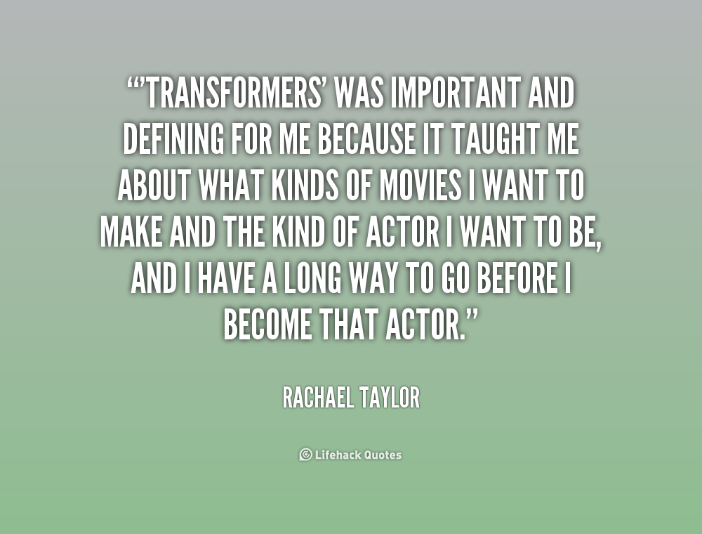 Best Transformers Quotes. QuotesGram Rachael Taylor Transformers