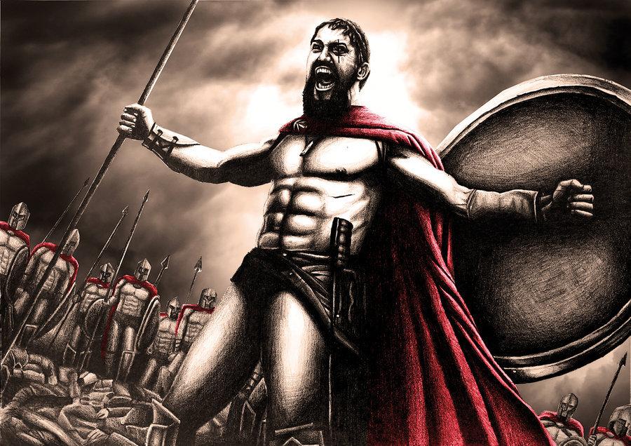 открытки 300 спартанцев энергичный парень