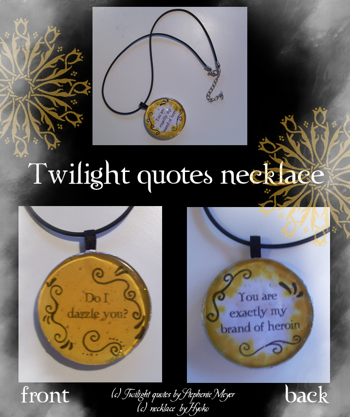 How To Make A Book Quote Pendant : Twilight book quotes quotesgram
