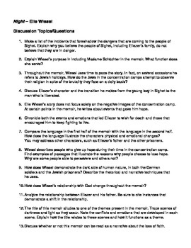 disscussion question chapter 1 Part ii: chapter i 1) what is written on the piece of paper the girl gives winston at work the girl, julia, had written i love you, on the piece of paper which she gave winston at work.