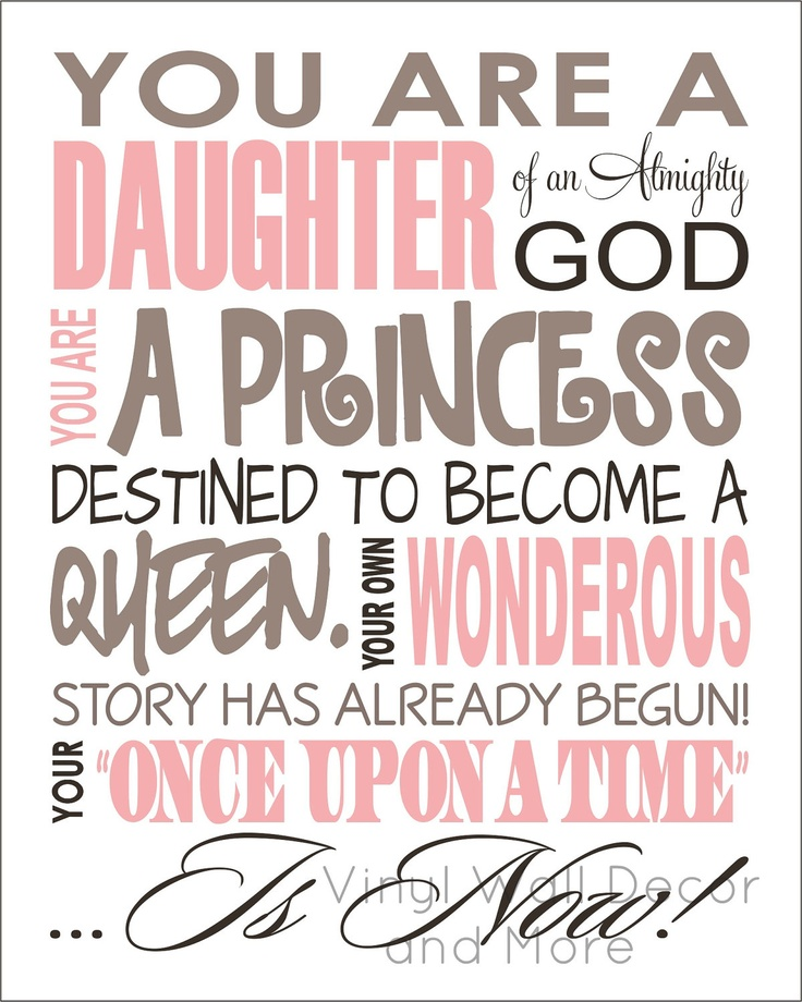 Quotes about being a princess of god
